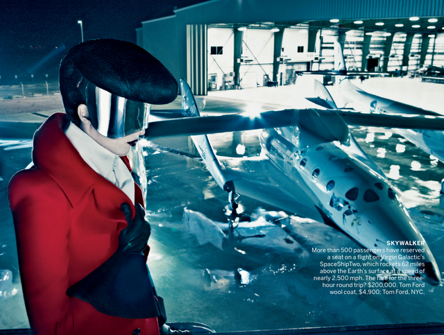 Vogue September Issue 2012 Space Odyssey and Virgin Galactic