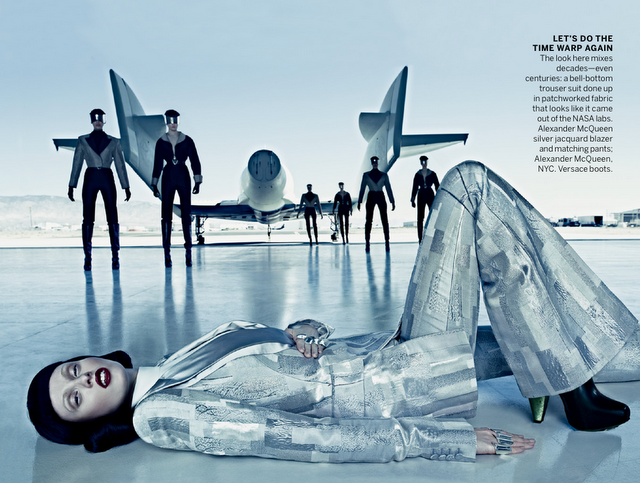 Vogue September Issue 2012 Karen Elson Virgin Galactic