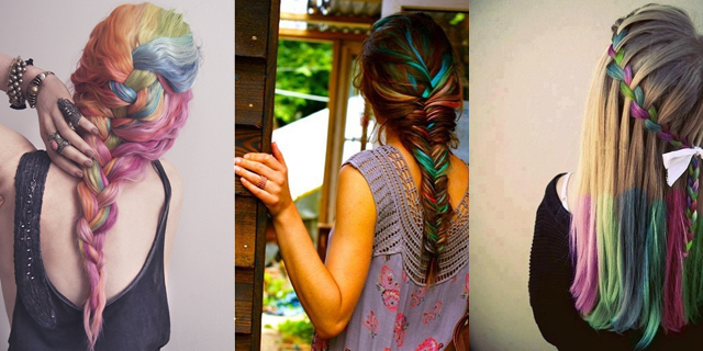 Hair Chalking Ideas- Braids