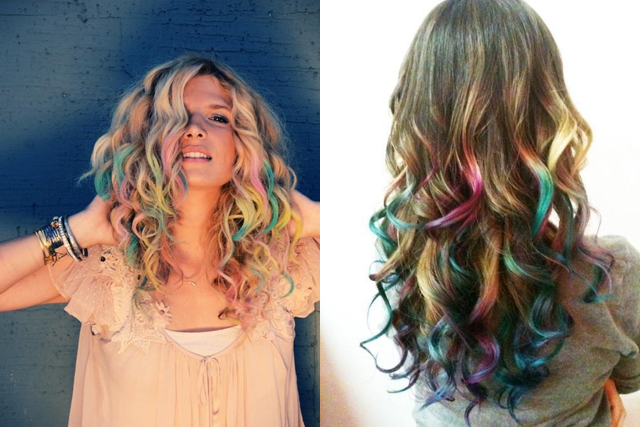 Hair Chalking Curly Hair