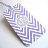 Chevron Luggage Tag Lilac