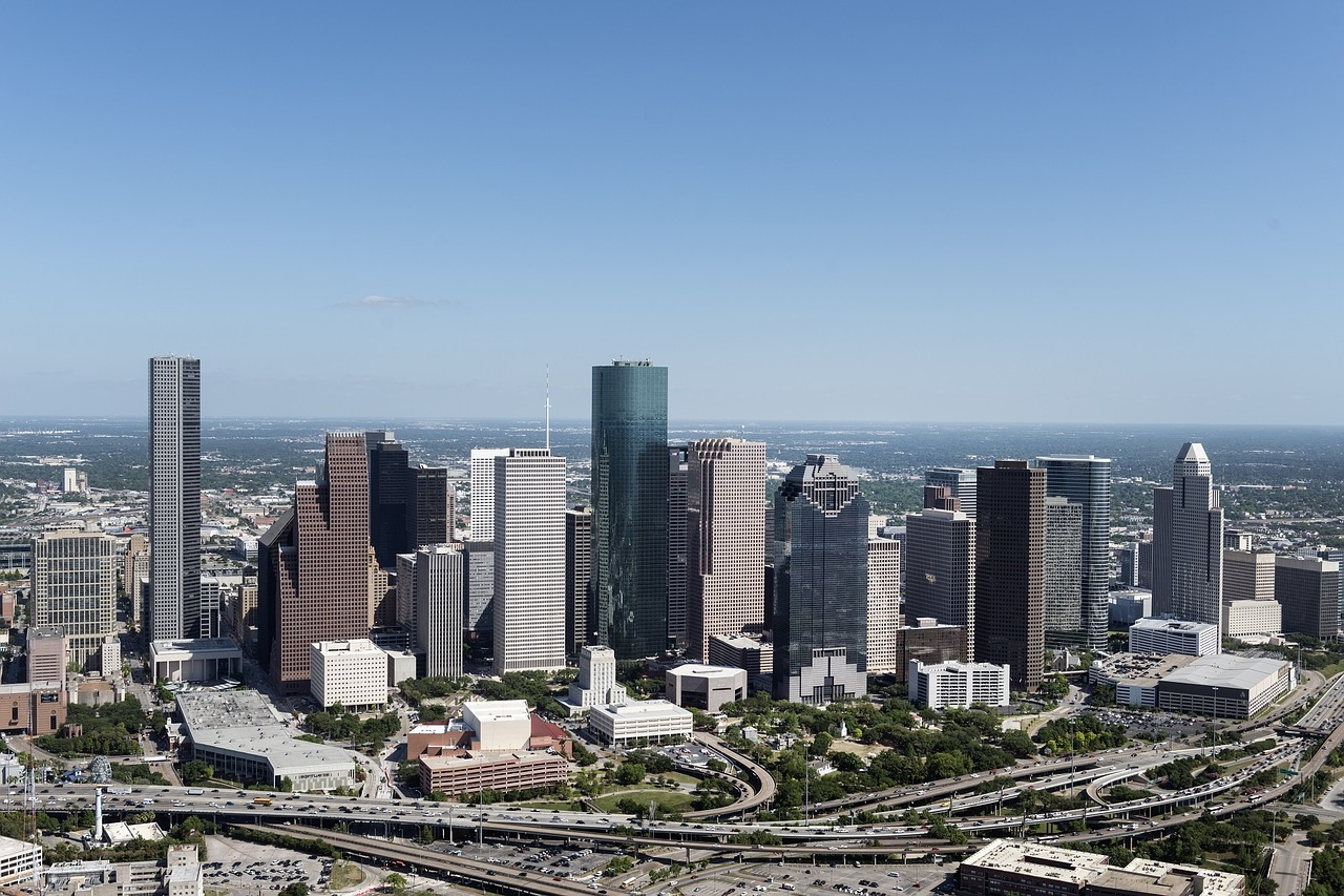 aerial-view-houston-skyline